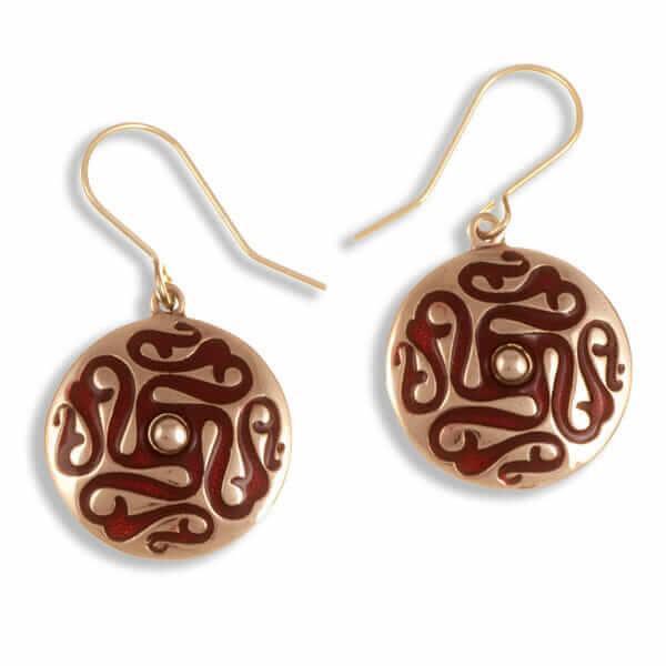 Draaimolen bronzen oorbellen