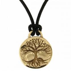 Tree of life disc bronzen hanger