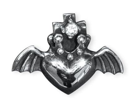 Vliegend Hart zilveren hanger