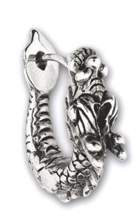 Zilveren Draak oorbel