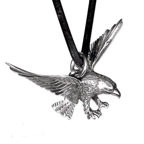 Vliegende adelaar zilveren hanger