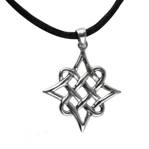 Keltische knoop zilveren hanger