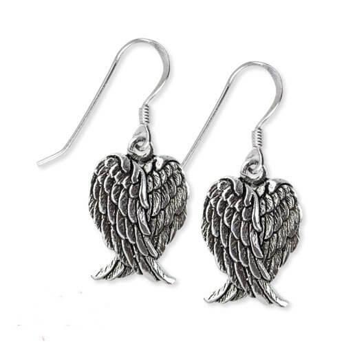 zilveren oorbellen vleugels