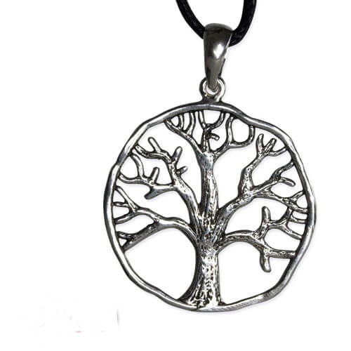 zilveren hanger Tree of life
