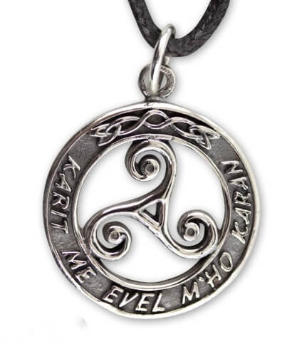 keltisch Triskelion zilver Hanger