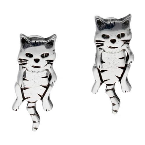 Bengelen kat tweedelige oorknopjes