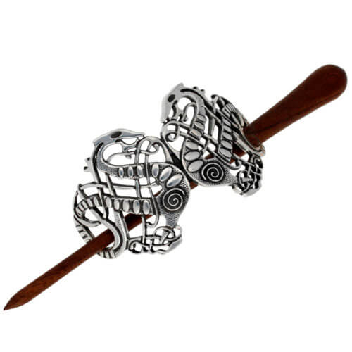 Viking slang haarspeld