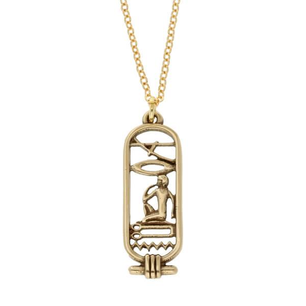 Egyptische Liefde Cartouche hanger