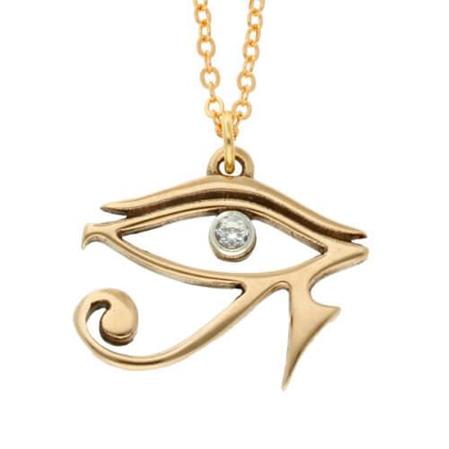 Egyptisch oog van Horus bronzen hanger
