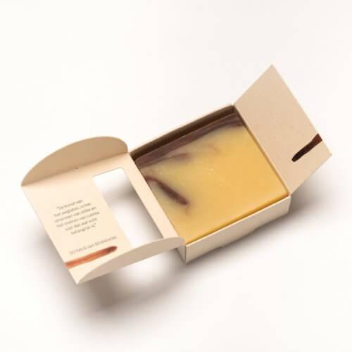 Kruiden zeep-verpakking-open
