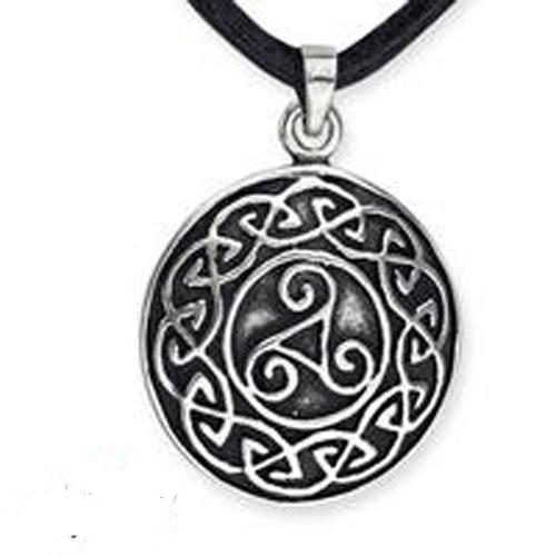 Zilveren Celtic Triscelion hanger