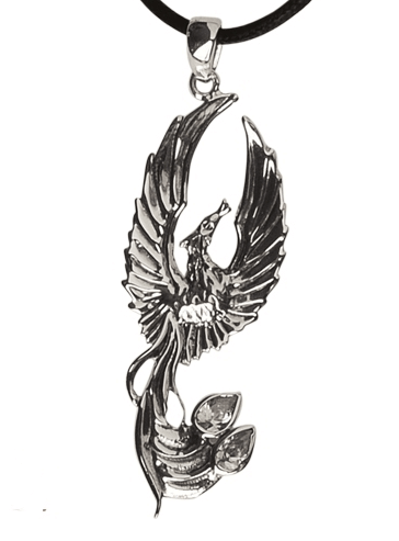 zilveren hanger Feniks