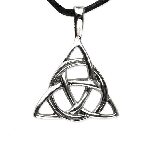 Zilveren Keltische knoop hanger