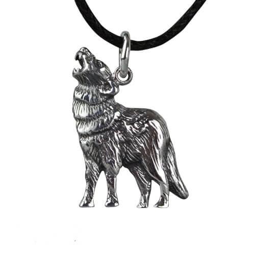 Zilveren wolf hanger