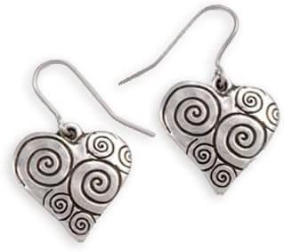 Swirls & twirls hartjes oorbellen pe641